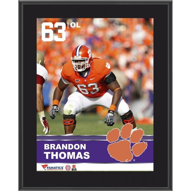 "Brandon Thomas Clemson Tigers Sublimated 10.5"" x 13"" Plaque"