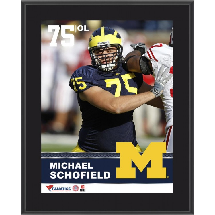 "Michael Schofield Michigan Wolverines Sublimated 10.5"" x 13"" Plaque"