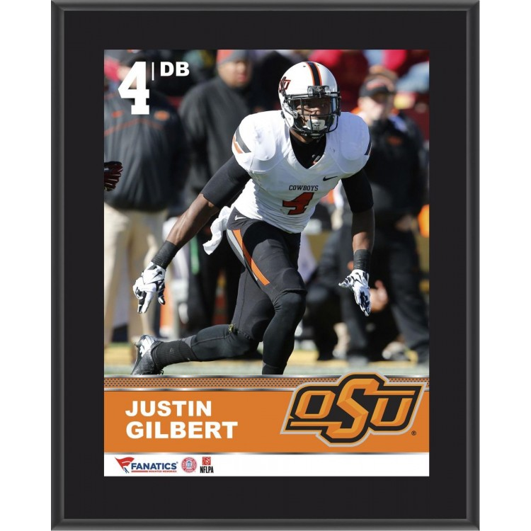 "Justin Gilbert Oklahoma State Cowboys Sublimated 10.5"" x 13"" Plaque"