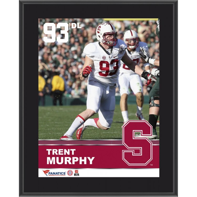 """Trent Murphy Stanford Cardinal Sublimated 10.5"""" x 13"""" Plaque"""