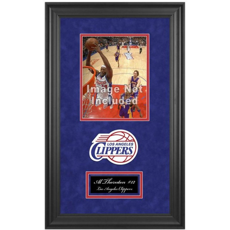 """Los Angeles Clippers Deluxe 8"""" x 10"""" Team Logo Frame"""