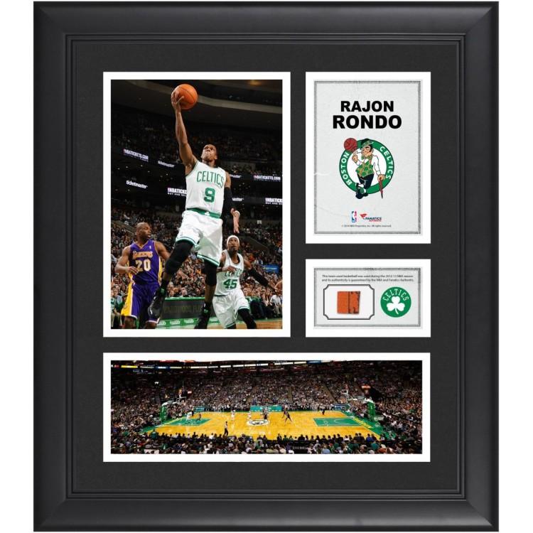 "Rajon Rondo Boston Celtics Framed 15"" x 17"" Collage with Team-Used Ball"
