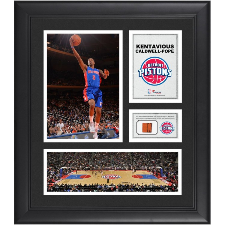 """Kentavious Caldwell-Pope Detroit Pistons Framed 15"""" x 17"""" Collage with Team-Used Ball"""