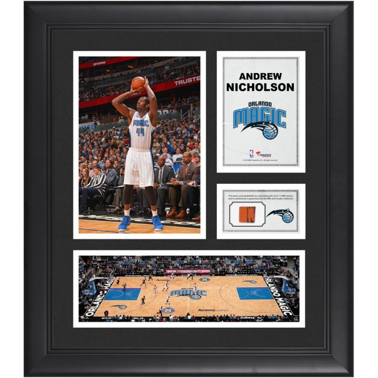 "Andrew Nicholson Orlando Magic Framed 15"" x 17"" Collage with Team-Used Ball"