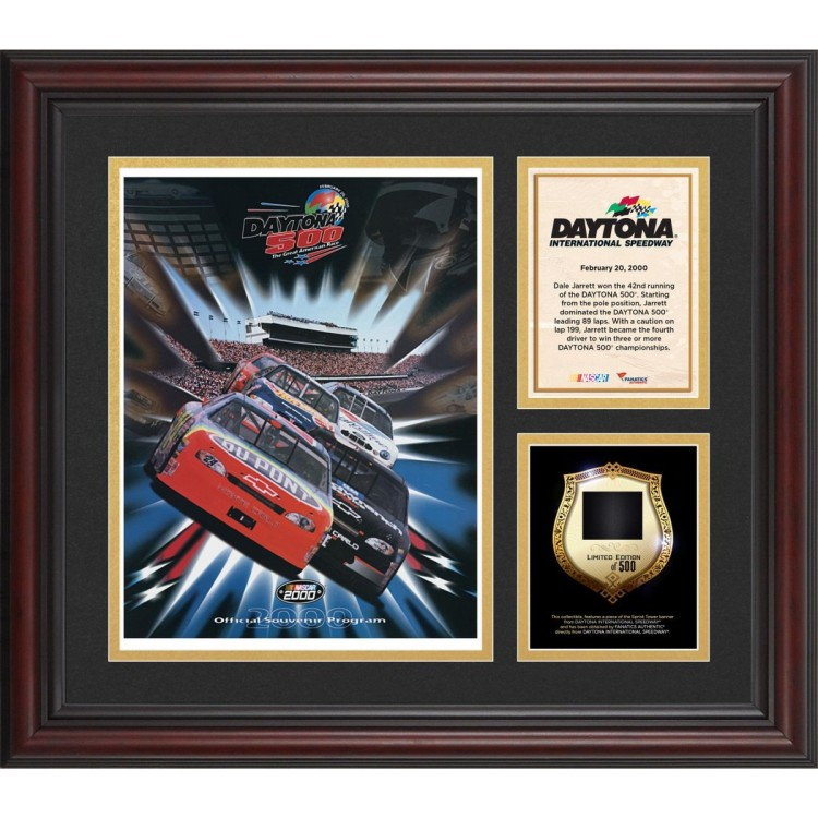2000 Daytona 500 Program 3 Photo Core Collage with Sprint Tower Banner-Limited Edition of 500