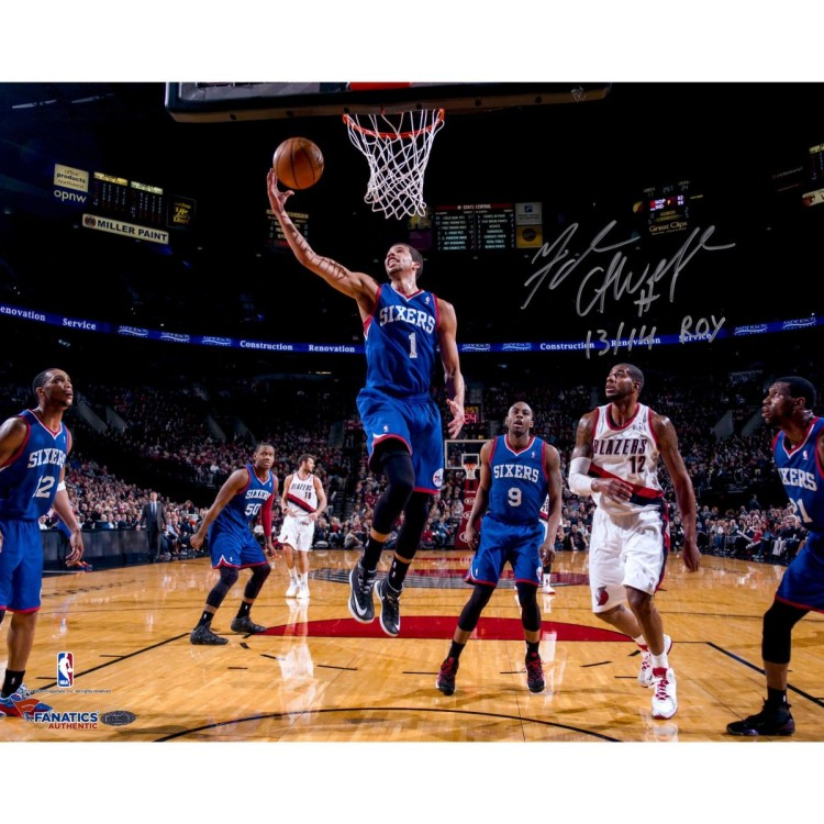 "Michael Carter-Williams Philadelphia 76ers Autographed 16"" x 20"" Photograph with 13/14 ROY Inscription"
