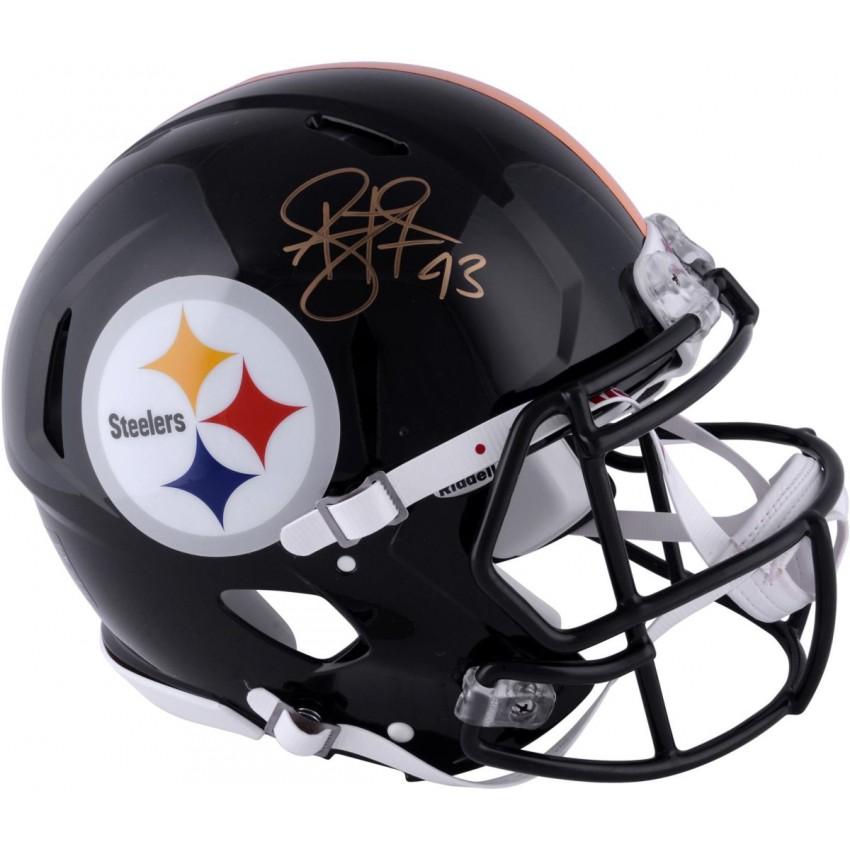 promo code 3ab83 46c5c Troy Polamalu Pittsburgh Steelers Autographed Riddell Pro-Line Revolution  Speed Helmet