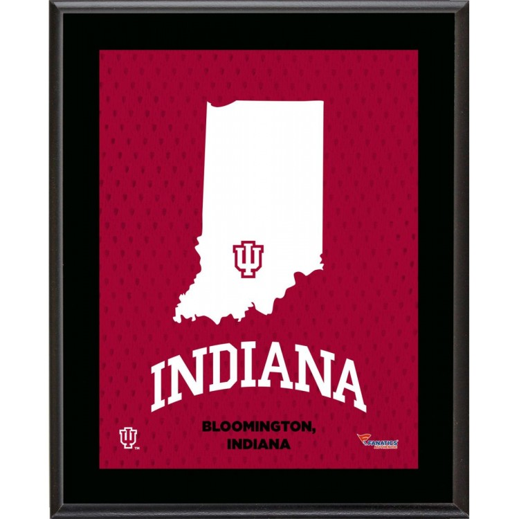 """Indiana Hoosiers Sublimated 10.5"""" x 13"""" State Plaque"""