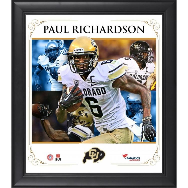 Paul Richardson Colorado Buffaloes Framed 15'' x 17'' Core Composite Photograph