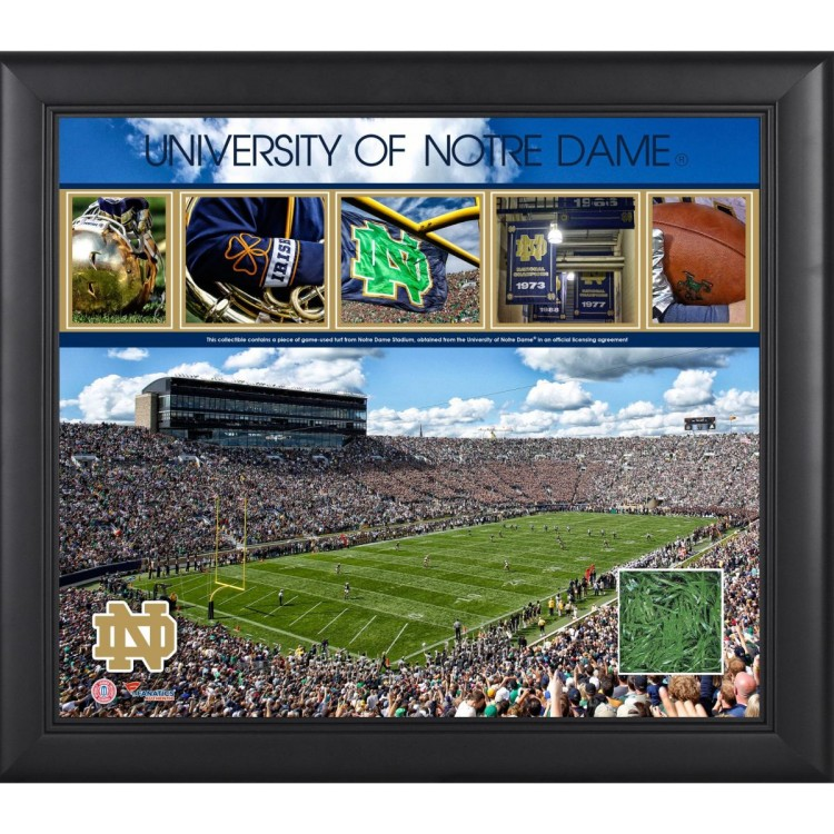 Notre Dame Fighting Irish Framed 15'' x 17'' Collage with Piece of Turf