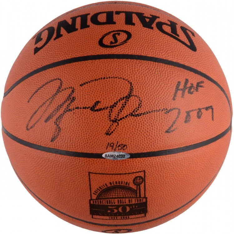 "Michael Jordan Autographed LE HOF 50th Anniversary Basketball with ""HOF 2009"" Inscription"