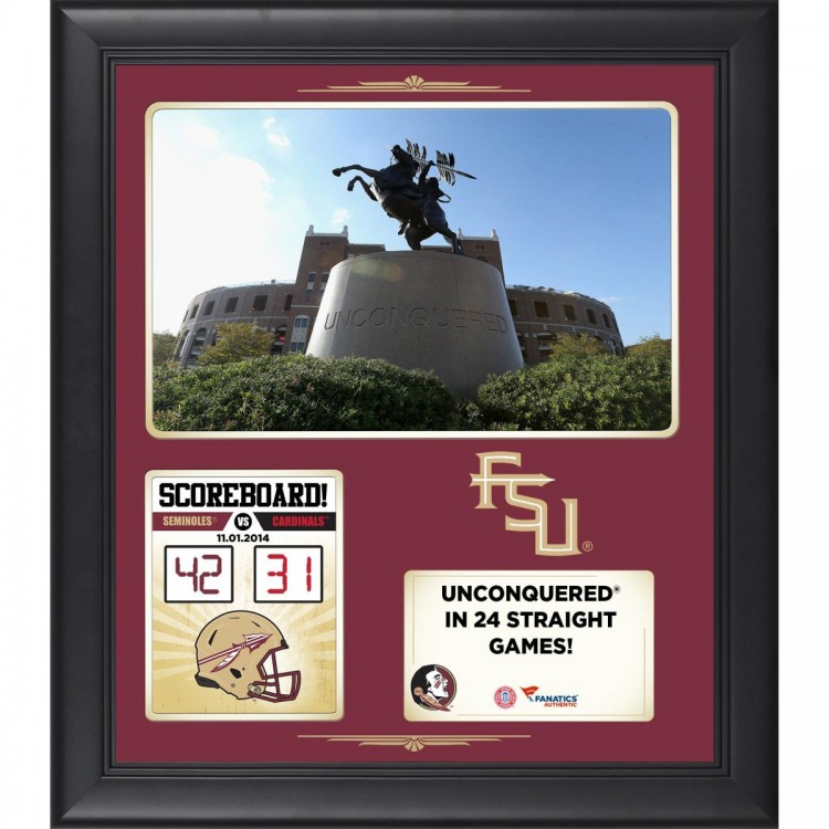 """Florida State Seminoles 2014 Win Over Louisville Cardinals Framed 15"""" x 17"""" Collage"""