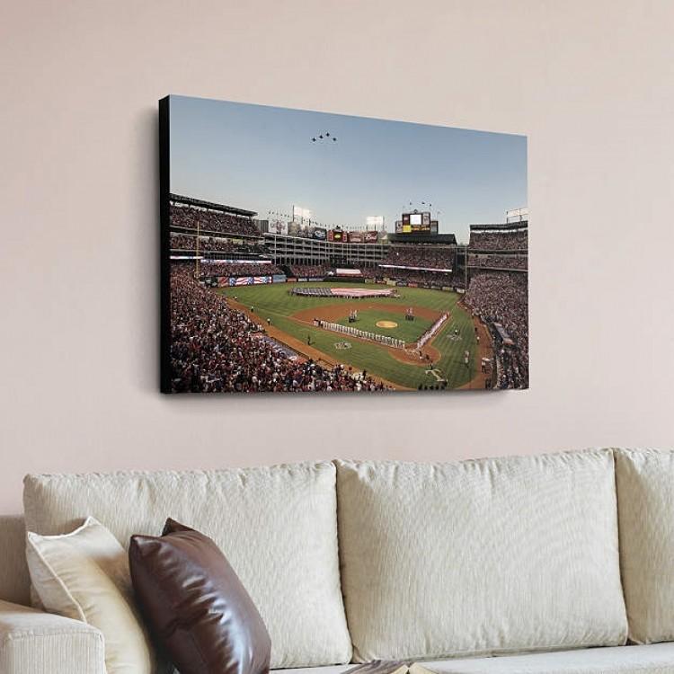 Inside Rangers Ballpark in Arlington - Flyover Canvas Print