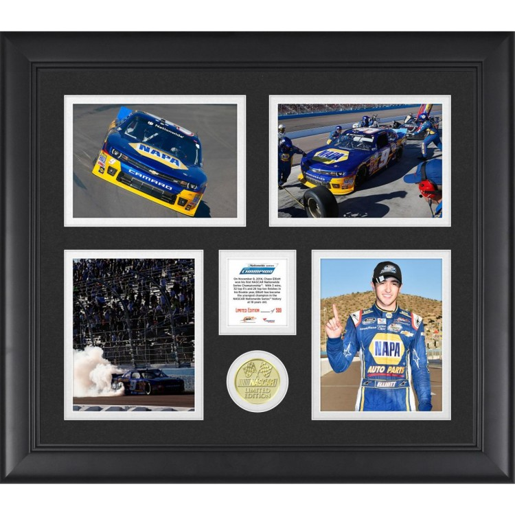 Chase Elliott 2014 NASCAR Nationwide Series Champion Frame With Limited Edition Coin Limited Edition of 500