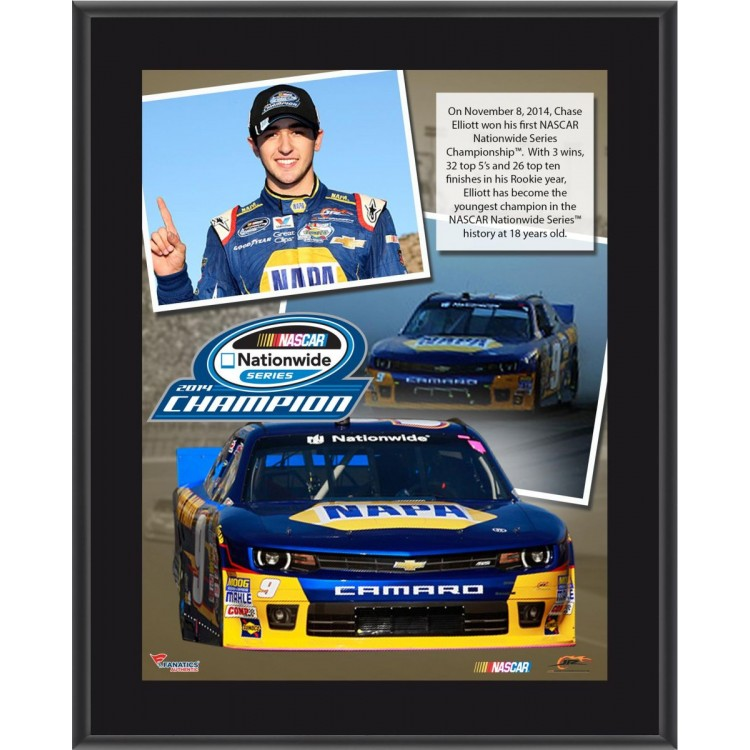 Chase Elliott 2014 NASCAR Nationwide Series Champion 10x13 Sublimated Plaque Collage