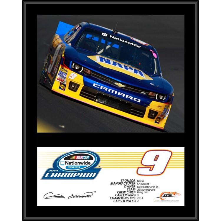 Chase Elliott 2014 NASCAR Nationwide Series Champion 12x15 Sublimated Plaque