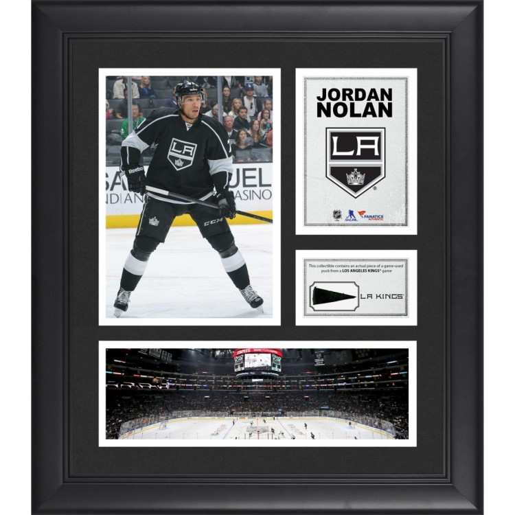 "Jordan Nolan Los Angeles Kings Framed 15"" x 17"" Collage with Piece of Game-Used Puck"