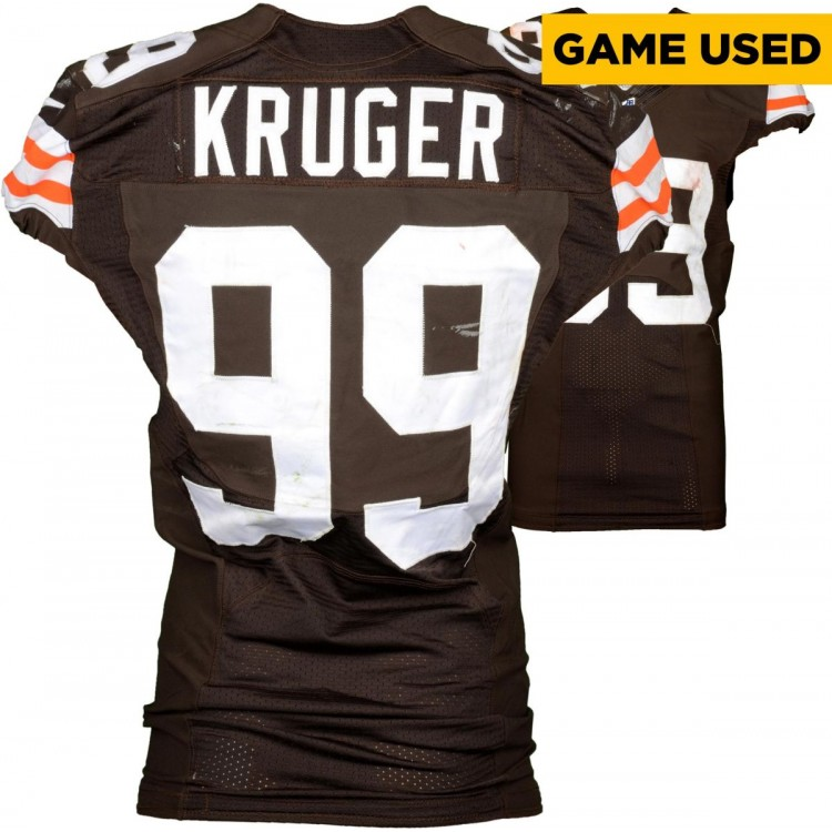 Paul Kruger Cleveland Browns Brown Game-Used Jersey December 7, 2014 vs. Indianapolis Colts