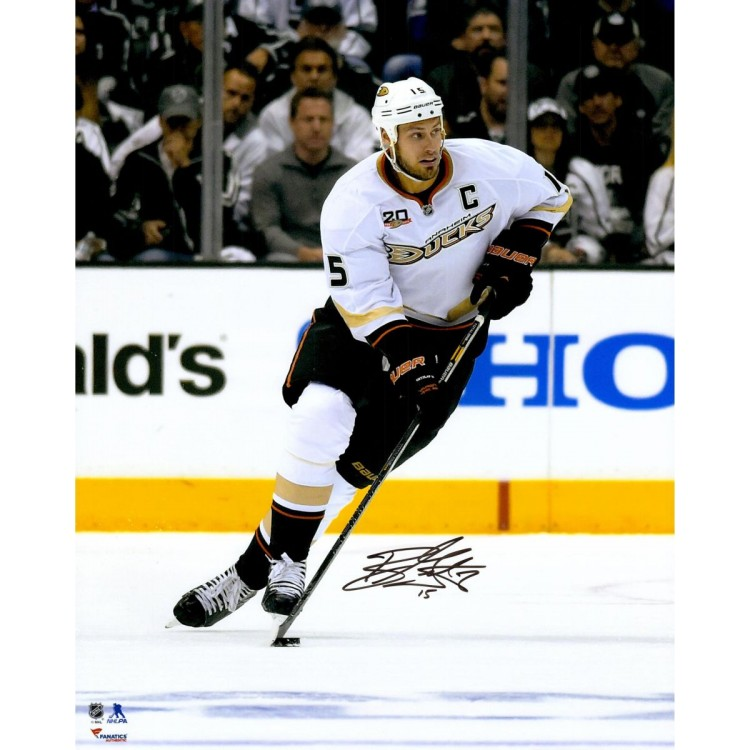 "Ryan Getzlaf Anaheim Ducks Autographed Skating With Puck 16"" x 20"" Photograph"
