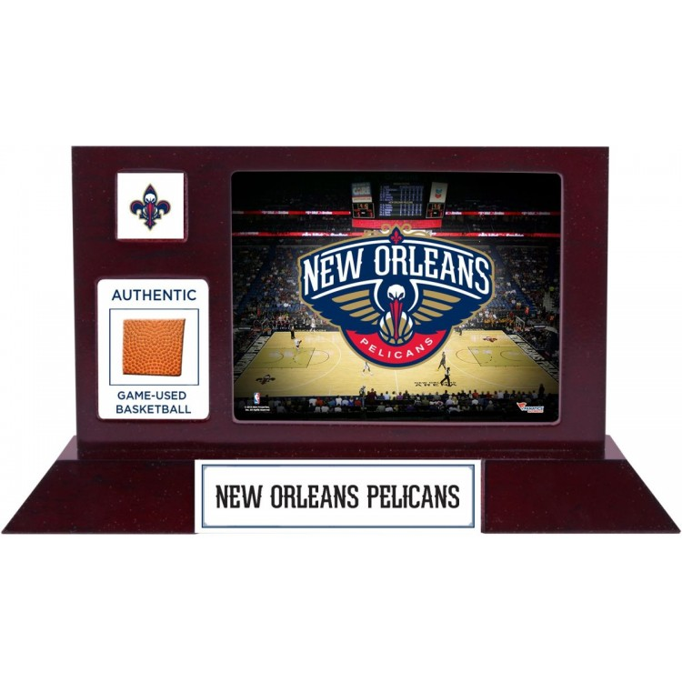 New Orleans Pelicans Team Logo Desktop Display with Team-Used Basketball