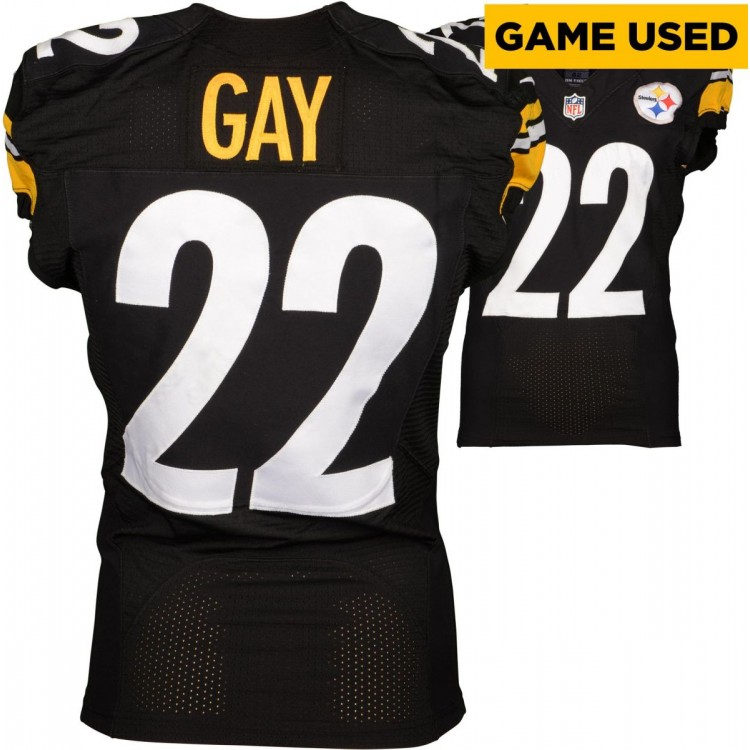 William Gay Pittsburgh Steelers Game-Used Black 2014 Season Jersey