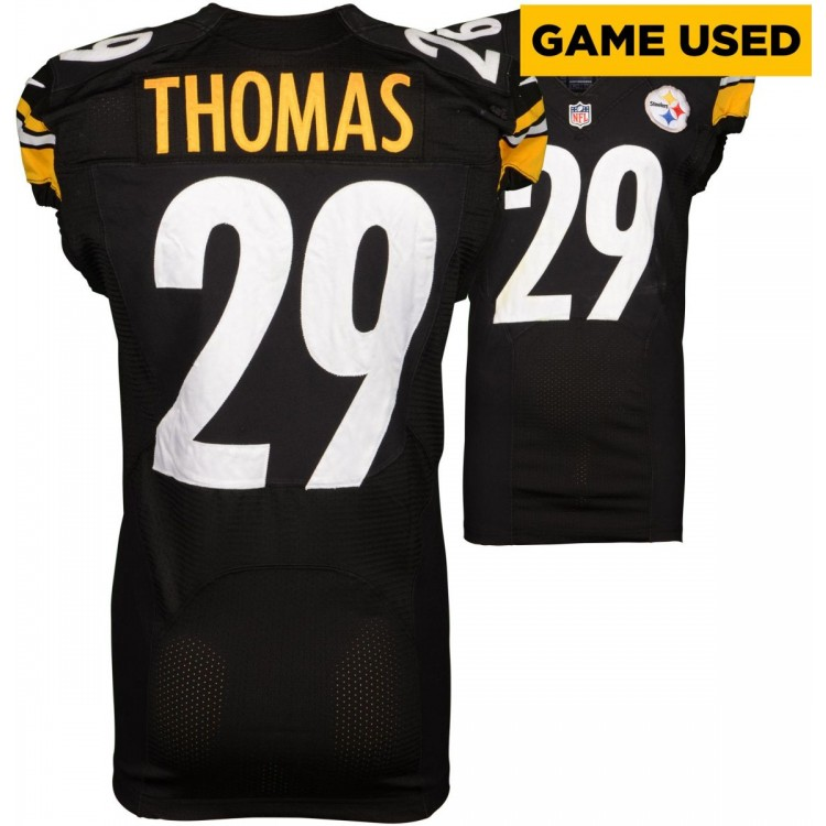 Shamarko Thomas Pittsburgh Steelers Game-Used Black 2014 Season Jersey