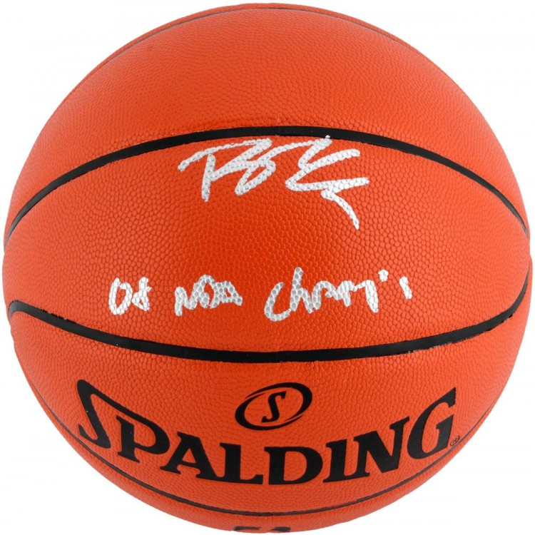 Rajon Rondo Boston Celtics Autographed Indoor/Outdoor Basketball with 08 NBA Champs Inscription