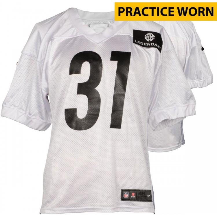 Practice Worn White Jersey from 2014 Season