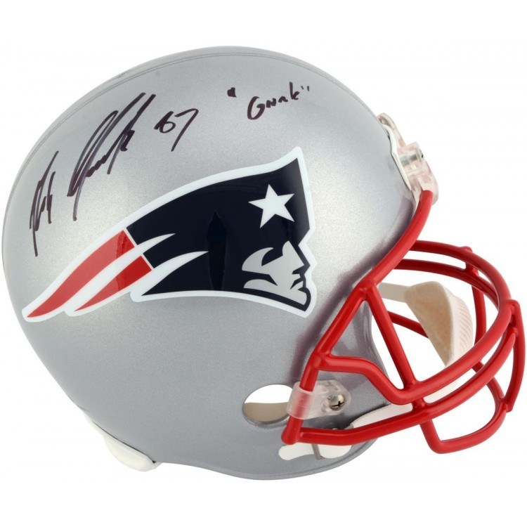 Rob Gronkowski New England Patriots Autographed Replica Helmet with Gronk Inscription