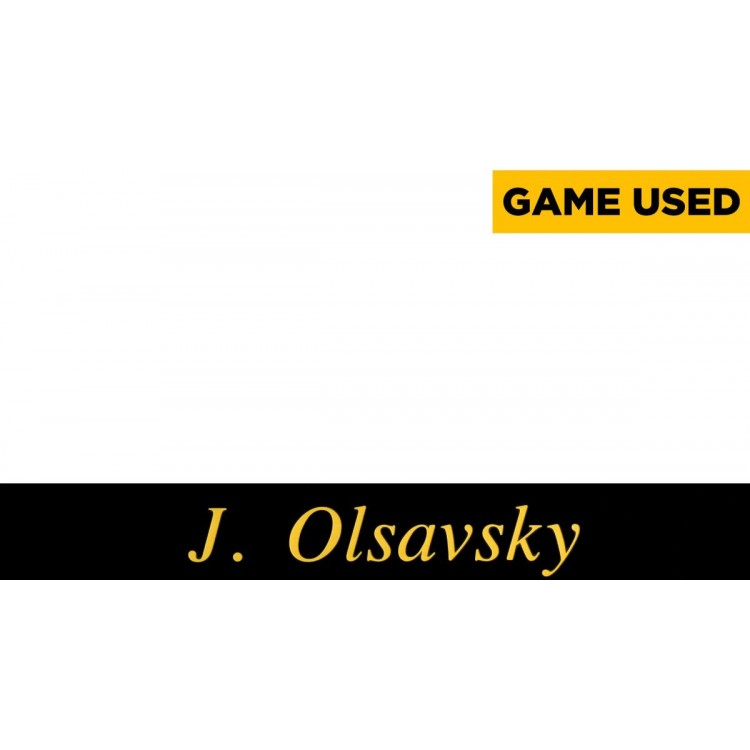 Jerry Olsavsky Pittsburgh Steelers Game-Used Black 2014 Season Locker Room Nameplate
