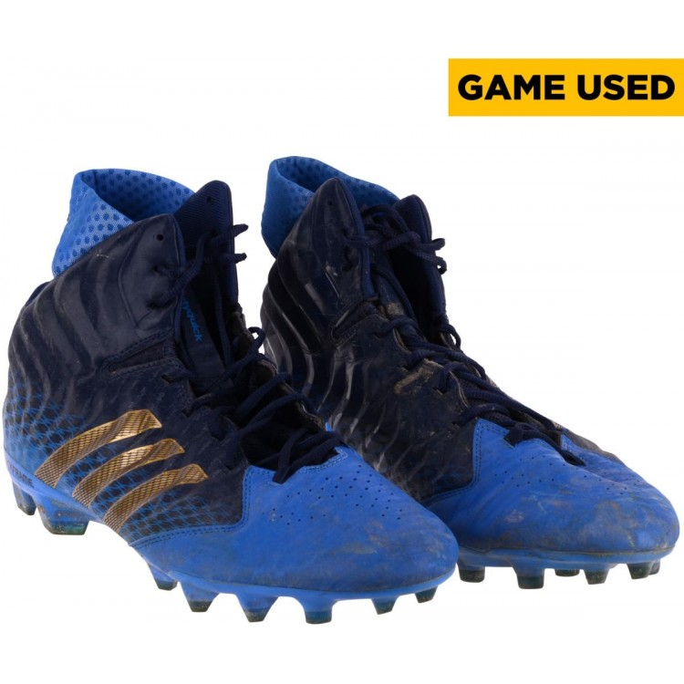 Malcolm Bunchie UCLA Bruins Team-Issued NFLPA Collegiate Bowl Team American Navy & Royal Blue Adidas Pair of Cleats
