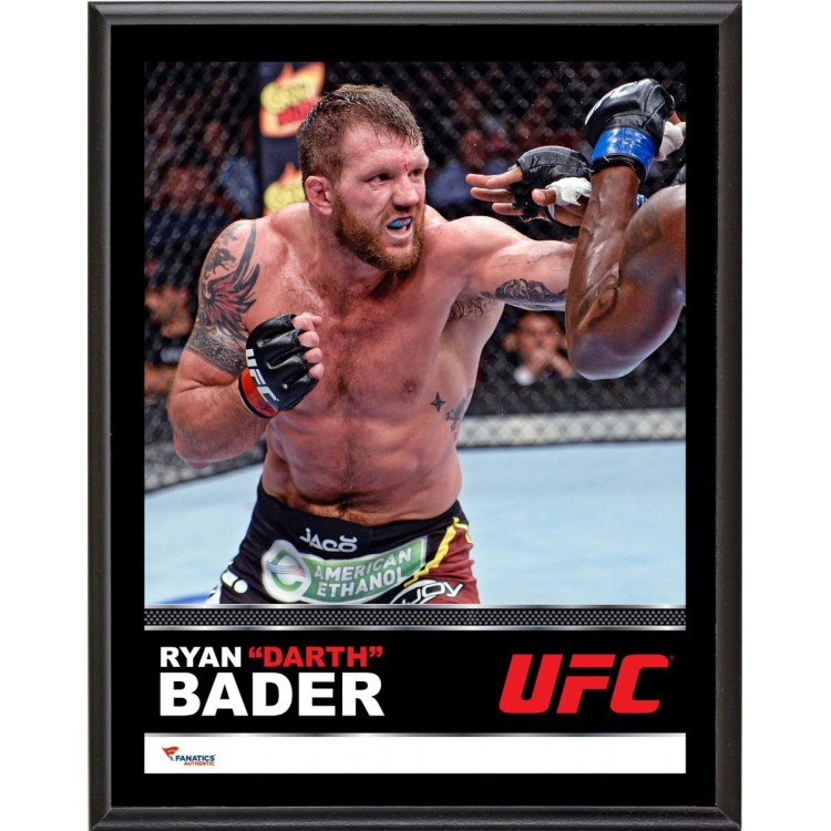 """Ryan Bader Ultimate Fighting Championship 10.5"""" x 13"""" Sublimated Plaque"""