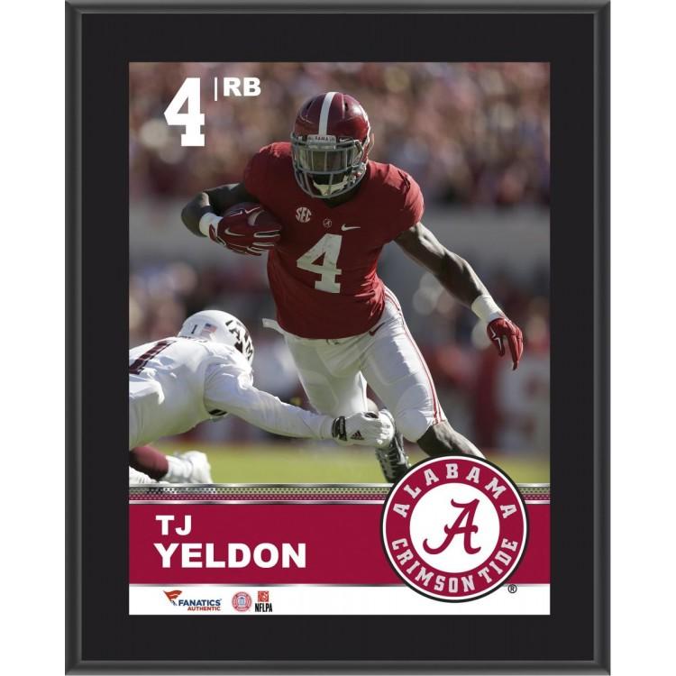 T.J. Yeldon Alabama Crimson Tide Sublimated 10.5'' x 13'' Plaque