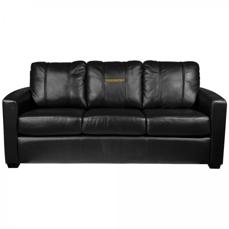 Washington Football Team Silver Sofa with Football Team Primary Logo