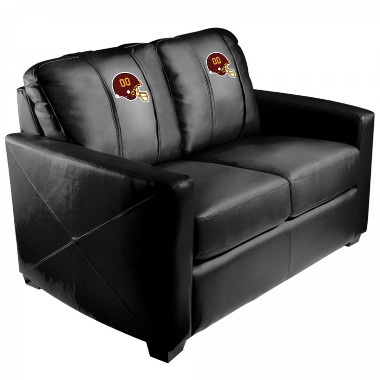 Washington Football Team Silver Loveseat with Football Team Helmet Logo