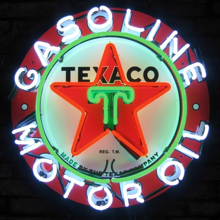Texaco Gasoline Neon Sign