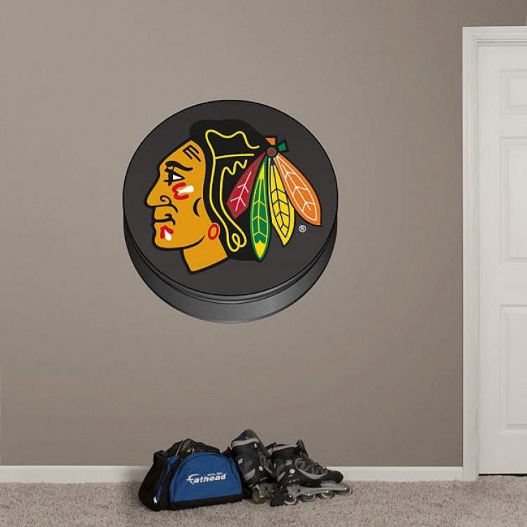 Chicago Blackhawks Logo Puck RealBig REAL.BIG. Fathead