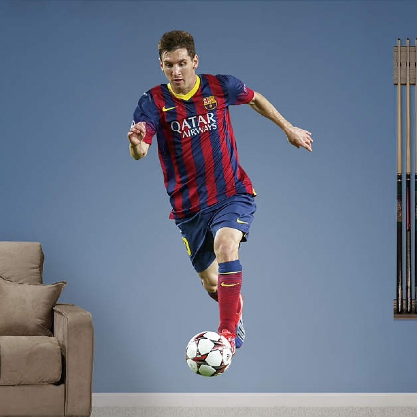 La Pulga Las Vegas >> SOCCER Lionel Messi 2013 RealBig REAL.BIG. Fathead