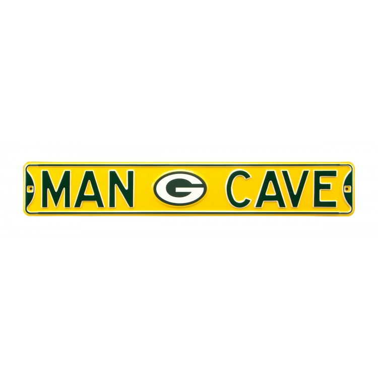 Green Bay Packers Steel Man Cave Street Sign
