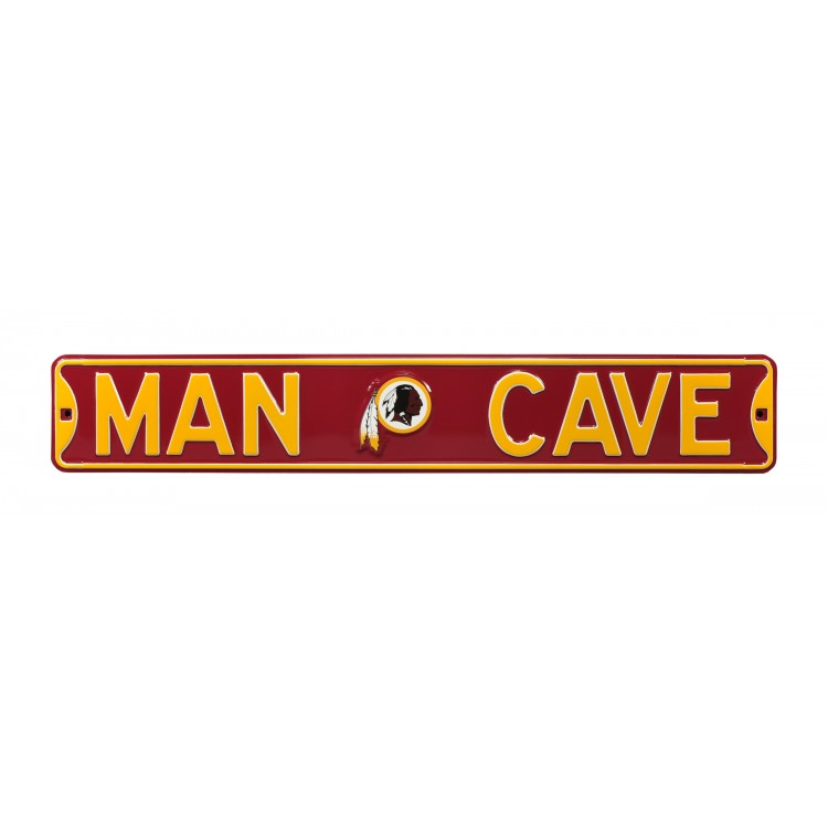 Washington Redskis Steel Man Cave Street Sign