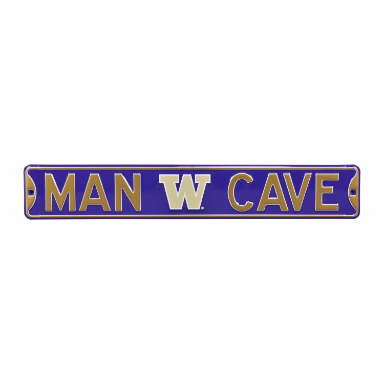 Washington Huskies Steel Man Cave Street Sign
