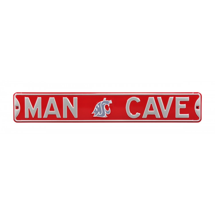 Washington State Cougars Steel Man Cave Street Sign