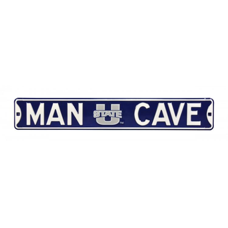 Utah State Aggies Steel Man Cave Street Sign