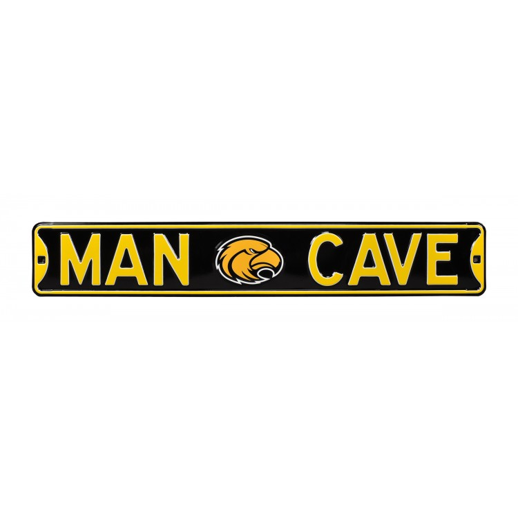 Southern Miss Golden Eagles Steel Man Cave Street Sign