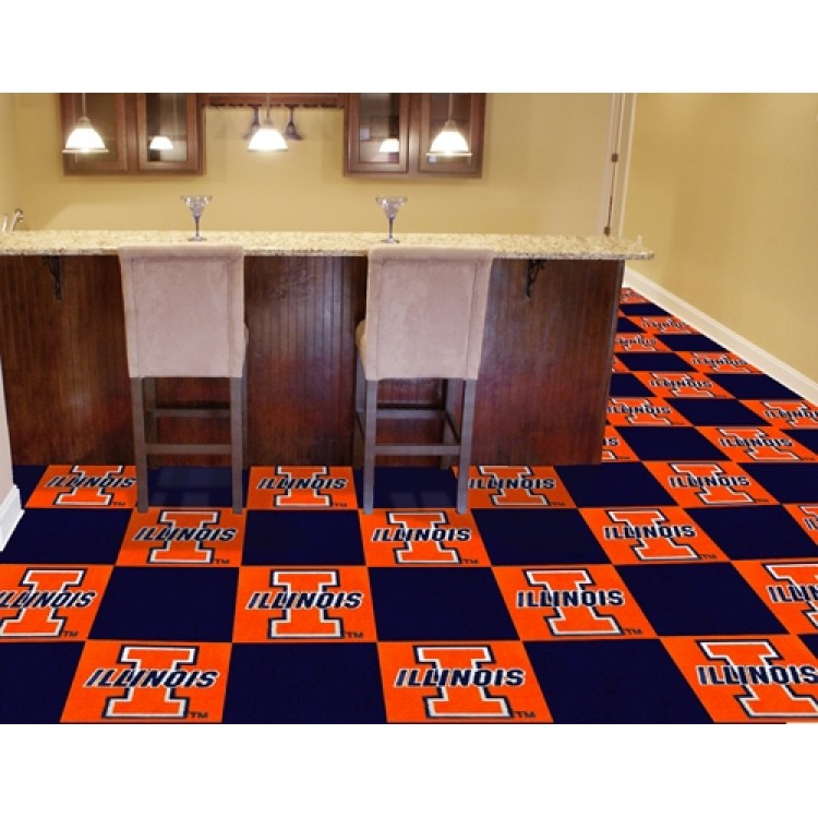 Illinois Illini Team Carpet Tiles