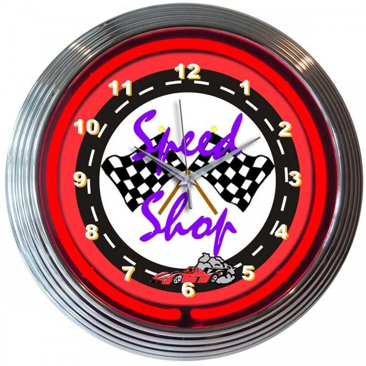 Speed Shop Neon Clock