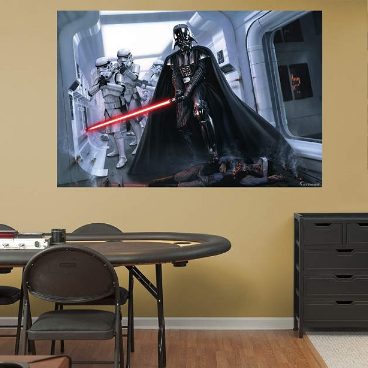 Darth Vader Stormtroopers Fallen Rebel Mural REAL.BIG Fathead