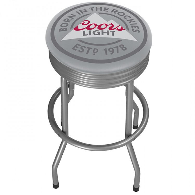 Coors Light Padded Outdoor Bar Stool - Silver - Set of 2