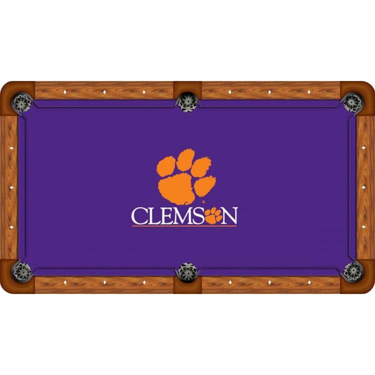 Clemson Tigers 8' Billiard Table Felt - Recreational