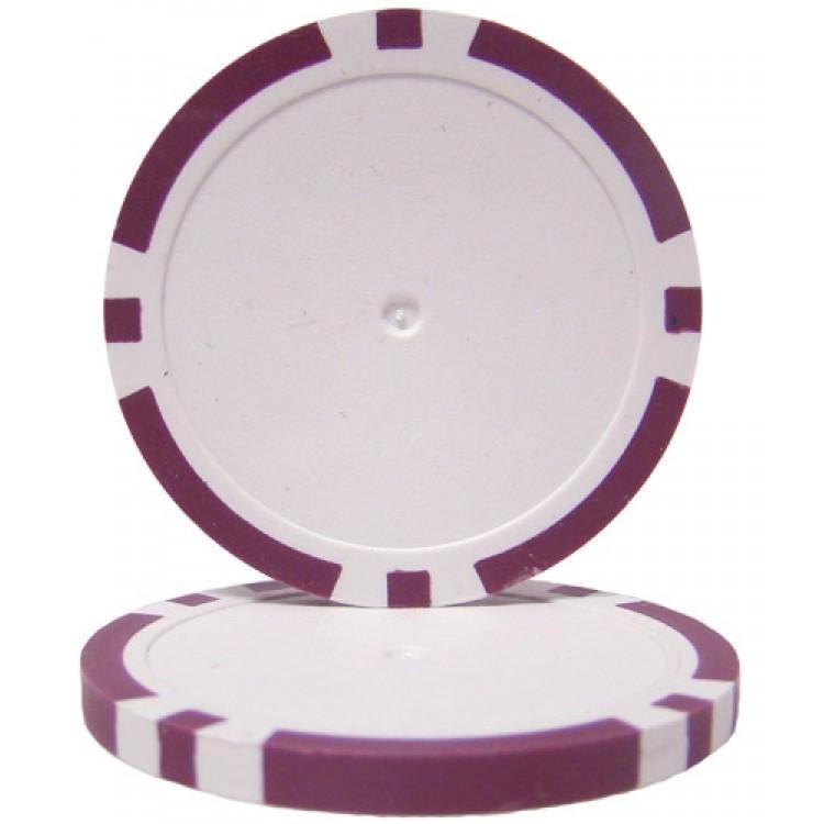 Purple Blank Poker Chips - 14 Gram